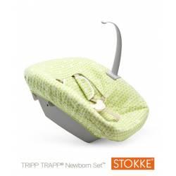 Textil NewBorn Motas Verdes (Green Dots) de Stokke