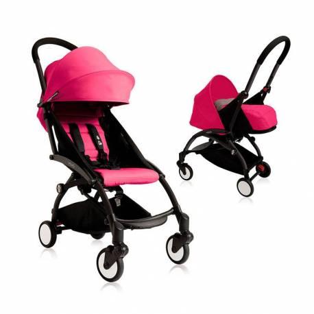 Cochecito 2 Piezas Babyzen YOYO chasis negro color rosa