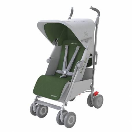 Silla de paseo Techno XLR de Maclaren color Silver Highland Green