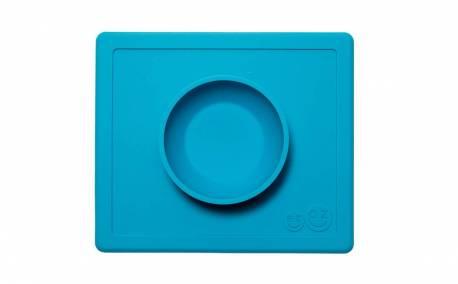 Bandeja con Plato de Silicona Happy Bowl color Azul