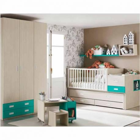 Habitación con Cuna Convertible Bi-cama de Ros