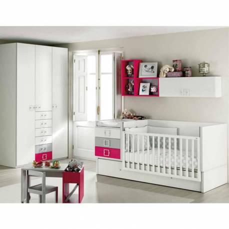 Habitación con Cuna Convertible Junior de Ros