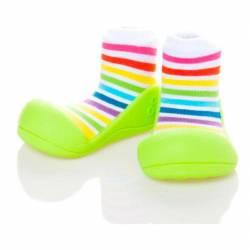 Zapatos para Bebé RainBow Verde de Attipas