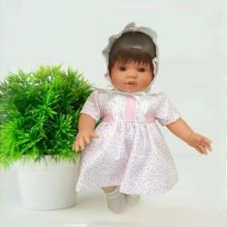Muñeca Tete con Bies Rosa