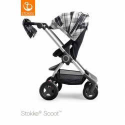 Kit de Invierno Stokke Scoot flanel grey negro