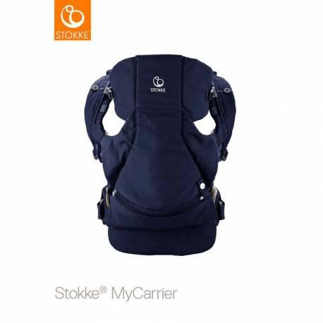Nueva Mochila Portabebe MyCarrier de Stokke azul noche