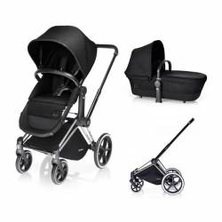 Cochecito de 2 piezas Priam Light Seat de Cybex happy black cromado light