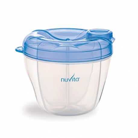 Envase y Dispensador de Leche en Polvo Nuvita azul