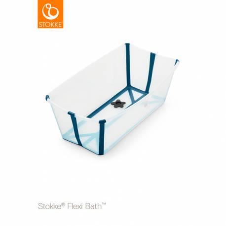 Bañera Plegable Flexi Bath de Stokke transparente y azul