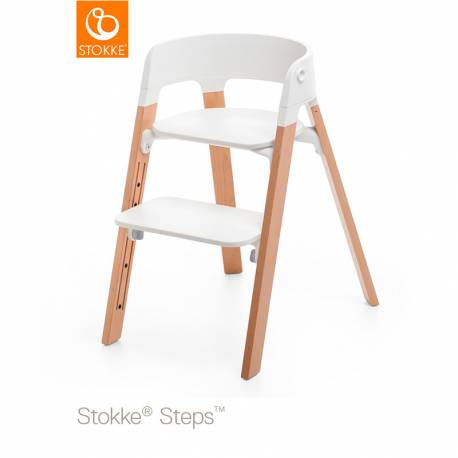 Silla STOKKE Steps natural blanco