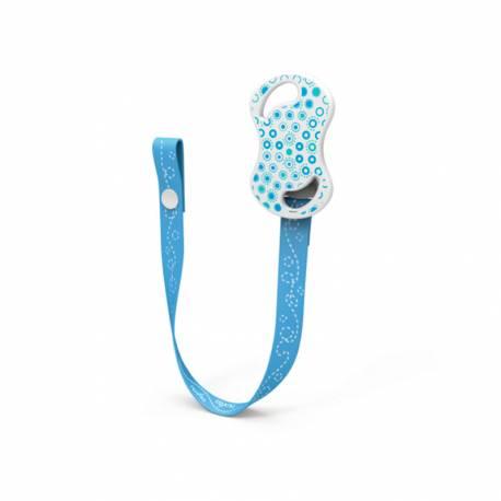 Portachupete con Botón de Presión Nuvita azul