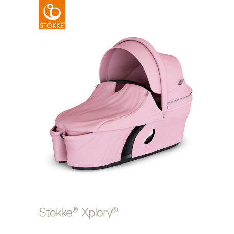 Capazo Xplory V6 de Stokke rosa loto
