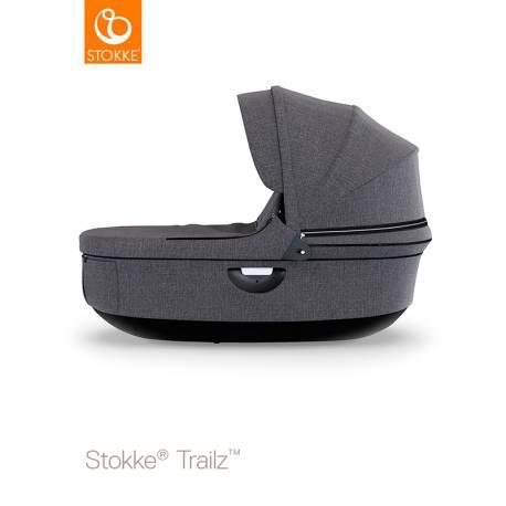 Capazo Stokke Trailz con Base Negra black melange