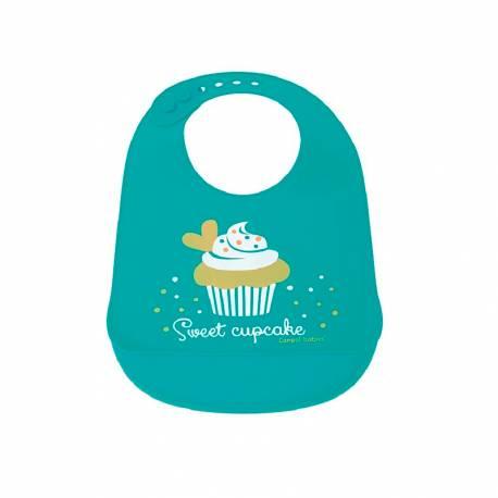 Babero de Silicona Cupcake de Canpol Babies