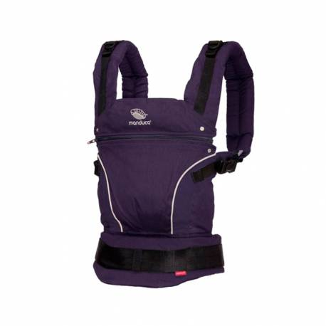 Mochila Portabebés Manduca PureCotton de Crianza Natural purple