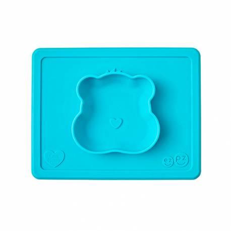 Bandeja con Plato de Silicona Care Bears Bowl de EzPz azul