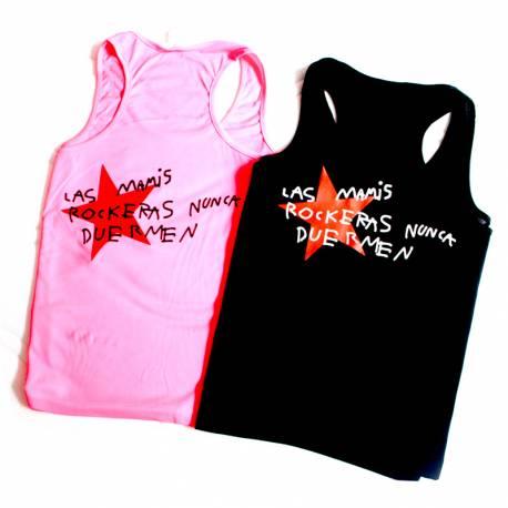 Camiseta Las Mamis Rockeras Nunca Duermen
