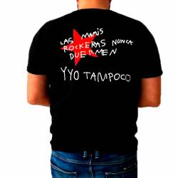 Camiseta para Hombre Las Mamis Rockeras Nunca Duermen