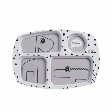 Plato con Compartimentos para Bebé Done By Deer Happy Dots
