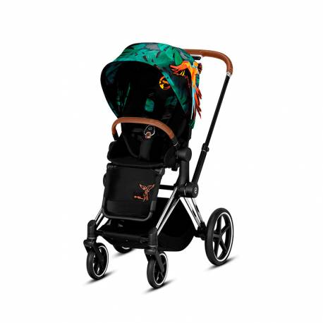 Silla de Paseo Priam de Cybex Edición Especial Birds of Paradise chrome marron