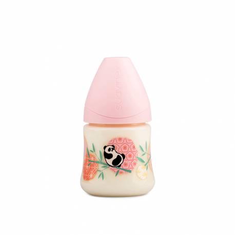 Biberón Anatómico Suavinex Panda 150ml Rosa