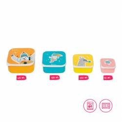 Fiambreras para Niños Badabulle Snack Box
