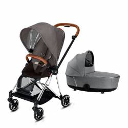 Cochecito 2 Piezas Mios de Cybex manhattan grey chrome marron