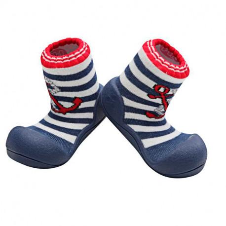 Zapato Ergonómico Azul Marino para Bebé de Attipas