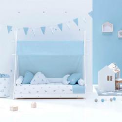 Cama Alondra Montessori Homy Indiana Blu 140 x 70 cm