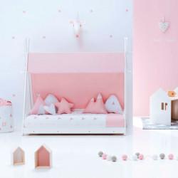 Cama Alondra Montessori Homy Indiana Rosa 140 x 70 cm