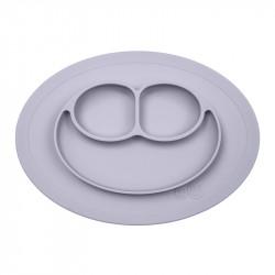 Bandeja con Plato de Silicona Mini Mat color gris claro