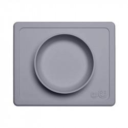 Plato con Mantel EZPZ Mini Bowl gris oscuro