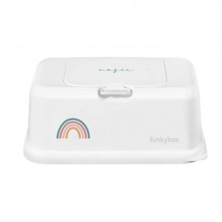 Dispensador de Toallitas Funkybox blanco arcoiris