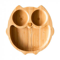 Plato de Bambú Ecológico Búho de Eco Rascals