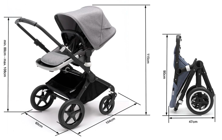 dimensiones bugaboo fox 2