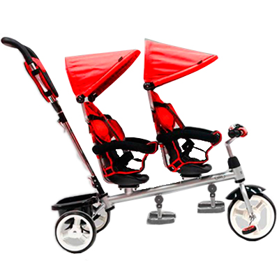 triciclo gemelar qplay giro